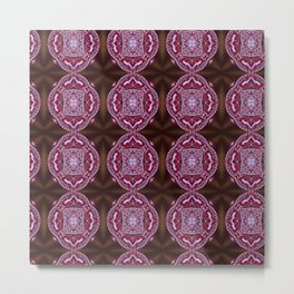 Burgundy Acer raindrops pattern Metal Print