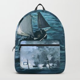 13,000px,600dpi-Edouard Manet - The Battle of the USS Kearsarge and the CSS Alabama - Digital Remastered Edition Backpack