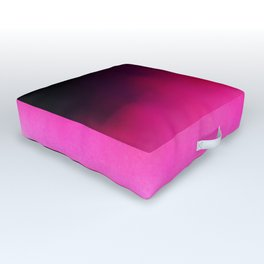 Purple and Black Abstract Outdoor Floor Cushion