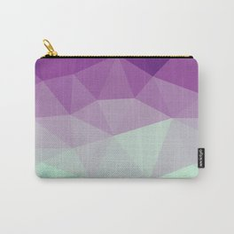 violet and blue polygon Carry-All Pouch