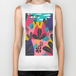 Colorful Forest Biker Tank