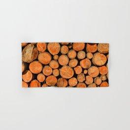 stack of wood Hand & Bath Towel