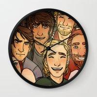selfie Wall Clocks featuring Selfie by cargline