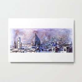 Florence from the Palazzo di Michelangelo- Florenc Metal Print