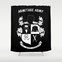 army Shower Curtains featuring Armitage Army by Circus Doll