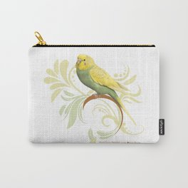 Pastel Green Parakeet Carry-All Pouch