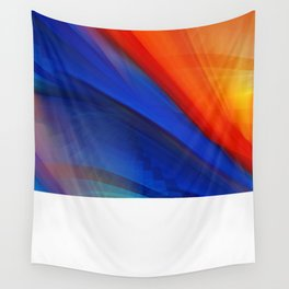 Bright orange and blue Wall Tapestry