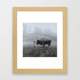 MeeTe Buffao Framed Art Print