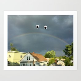 Sad Rainbow Art Print