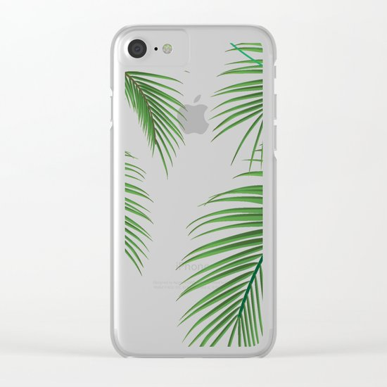 Palm Tree Leaves Clear iPhone Case