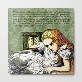 Alice's Adventures in Wonderland Chapter IV: The Rabbit Sends in a Little Bill Metal Print