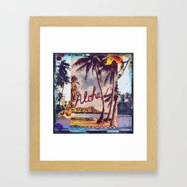 Aloha Waikiki, Hawaii Framed Art Print