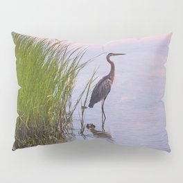 Blue Heron In Assateague Pillow Sham