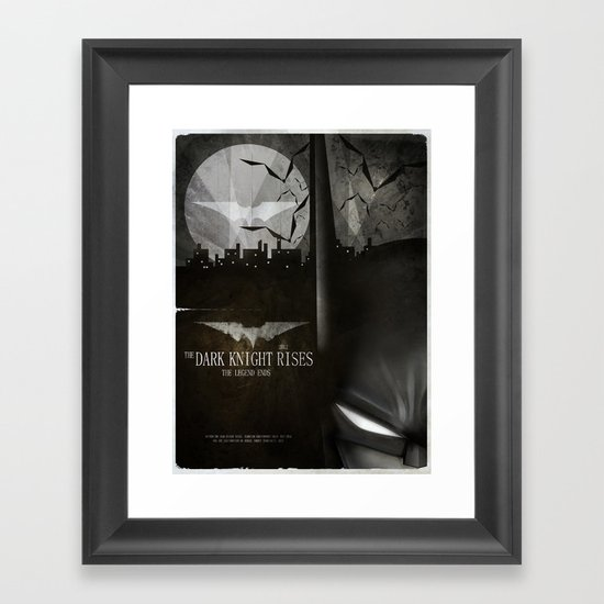 dark knight rises movie fan poster Framed Art Print