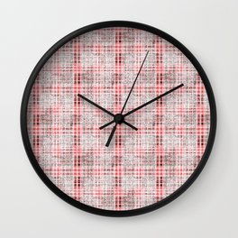 Classical red-gray cell. Wall Clock