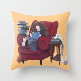 Hermione READ poster Throw Pillow