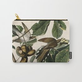 Yellow-billed Cuckoo, Birds of America by John James Audubon Carry-All Pouch