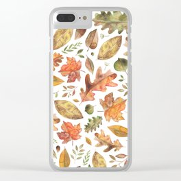 Autumn/Fall Leaves Clear iPhone Case
