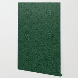 Black and green kaleidoscope Wallpaper