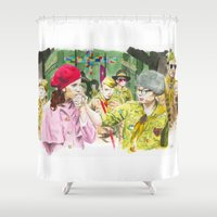 moonrise kingdom Shower Curtains featuring moonrise kingdom by jgart
