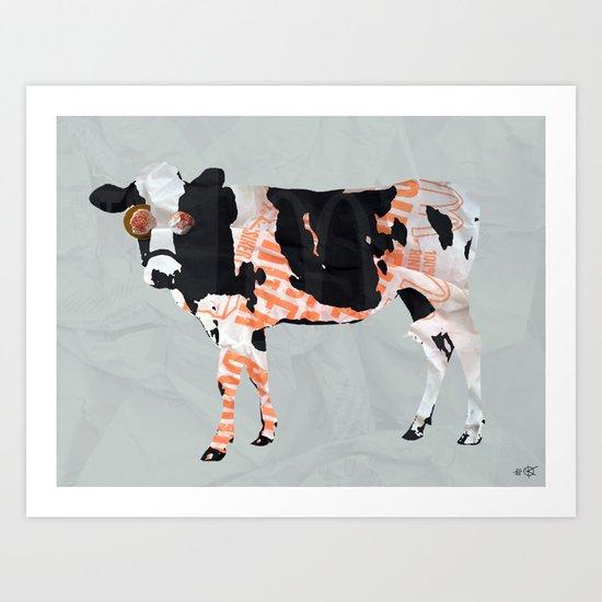 Kuh Collage Art Print