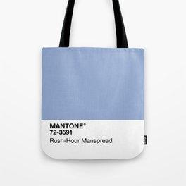 MANTONE® Rush-Hour Manspread Tote Bag