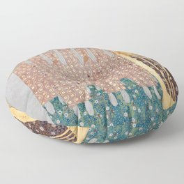 Gustav Klimt - Beethovenfries Floor Pillow