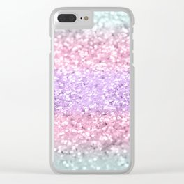 Unicorn Girls Glitter #8 #shiny #pastel #decor #art #society6 Clear iPhone Case