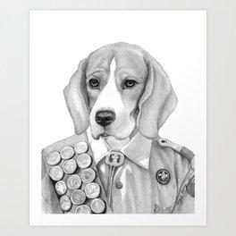 Eagle Beagle Art Print