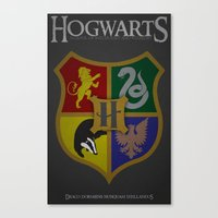 hogwarts Canvas Prints featuring Hogwarts by Fanboy's Canvas