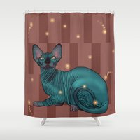 sphynx Shower Curtains featuring Sphynx by Illness