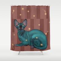 sphynx Shower Curtains featuring Sphynx by Illness