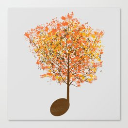 Note Tree Canvas Print