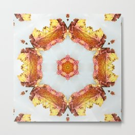 Dragonfly Mandala I Metal Print