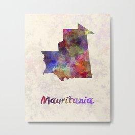 Mauritania in watercolor Metal Print