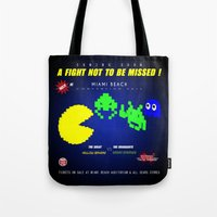 fight Tote Bags featuring Fight ! by mauro mondin