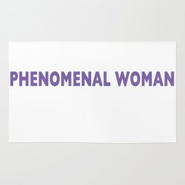 PHENOMENAL WOMAN Rug