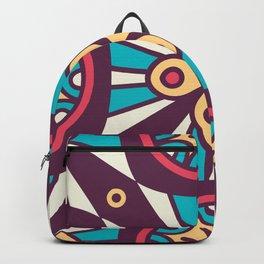 Purple Star Mosaic Boho Pattern Backpack