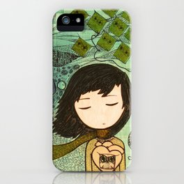 """""""Ghost figures of past, present, future haunting the heart"""" iPhone Case"""