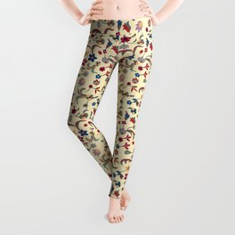 Taj Mahal Marble Flowers and Vines Leggings