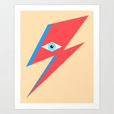 David Bowie  |  Ziggy Stardust  |  Minimalism Art Print
