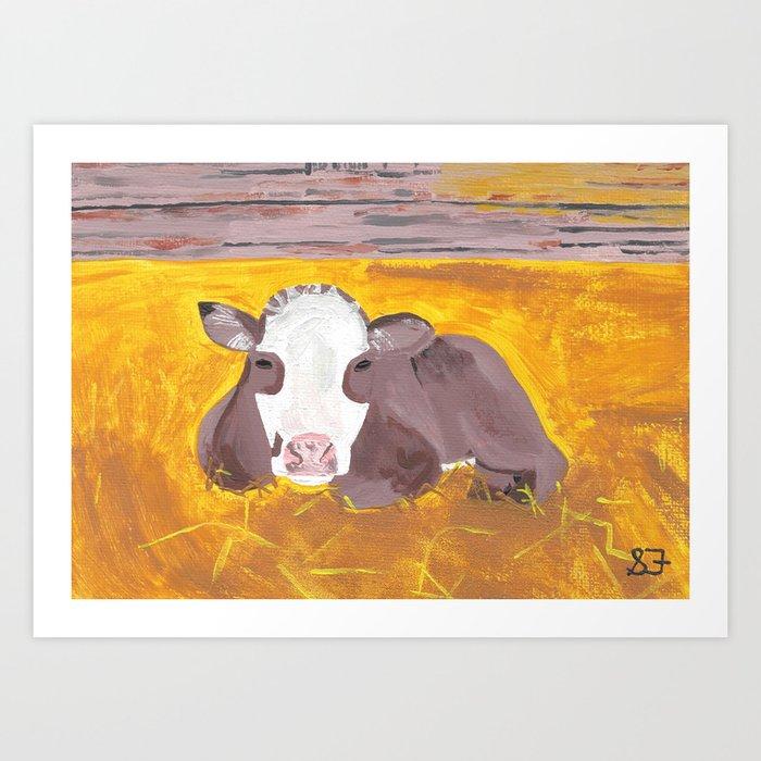 A Heifer Calf Named Darla Art Print