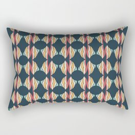 Oval and Diamond Sillouette Pattern Rectangular Pillow