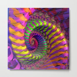 Coloured Spiral wheel Metal Print