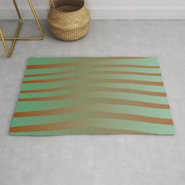 Brown Green Color Rug