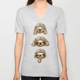 No Evil Sloth Unisex V-Neck