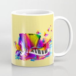 Colorful music instruments , accordion design Coffee Mug