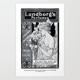 Lundborg's Perfumes  Art Print
