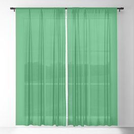 Dunn & Edwards 2019 Trending Colors Get Up and Go Green DE5636 Solid Color Sheer Curtain
