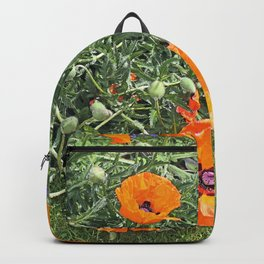 South winds jostle them; poppies in the garden Backpack